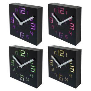 Horloge murale carree achat vente horloge murale carree pas cher cdiscount for Horloge led murale