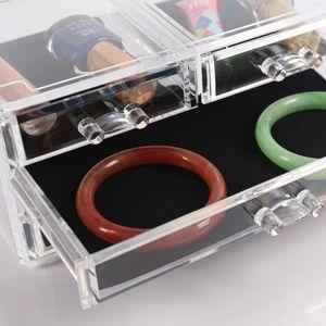 PALETTE DE MAQUILLAGE  Boîte de maquillage organisateur transparente en a