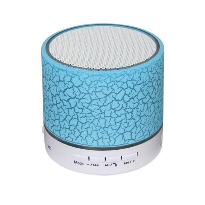 Enceinte Bluetooth Portable Sans Fil Puissant Haute Qualite Bleu