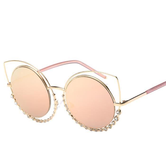 Lunettes de soleil femmes diamant oeil de chatrose-LXX70323201C_1234
