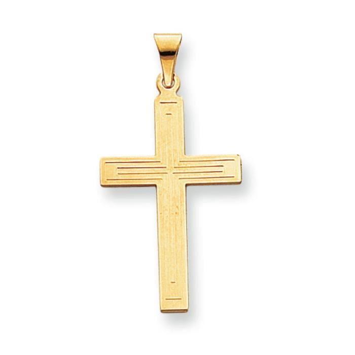 Massif 14 Carats Pendentif croix-Dimensions :35,9 x 18,4–mm