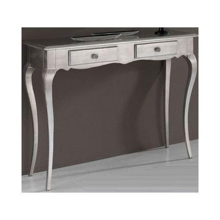 console baroque en bois argent linsay 2 tiroirs achat vente console console baroque en bois. Black Bedroom Furniture Sets. Home Design Ideas