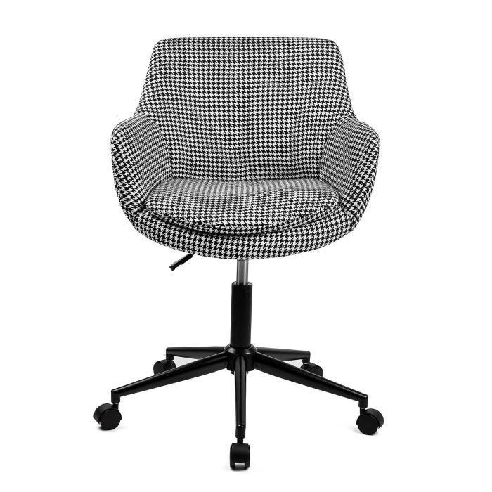 chaise de bureau skei sige de bureau style scandinave pivotant rou - Fauteuil Bureau Scandinave