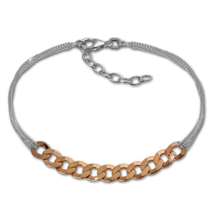SilberDream Bracelet - Fantaisie - or rose - Argent 925 - Femme - Bijoux Tendance SDA2138E