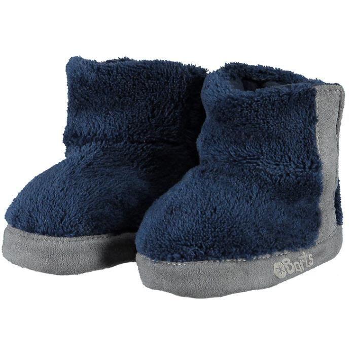 BARTS - Chaussures fourrure polaire bleu marine bébé garçon du 3 au 12 mois Barts
