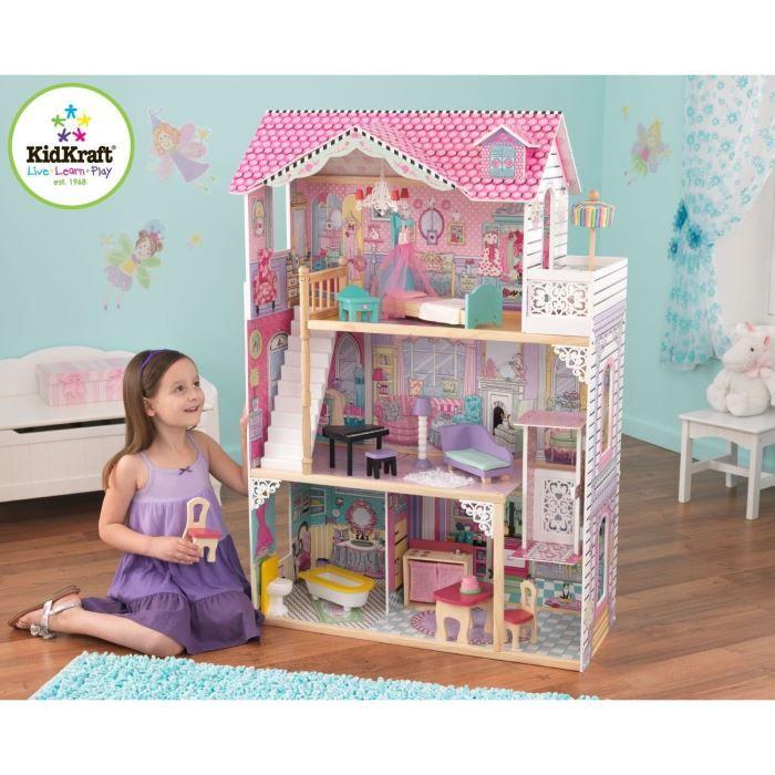 kidkraft maison de poup es annabelle achat vente maison poup e cdiscount. Black Bedroom Furniture Sets. Home Design Ideas