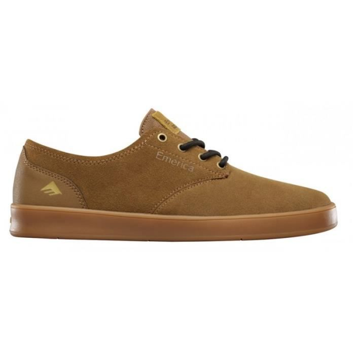 CHAUSSURES EMERICA THE ROMERO LACED BROWN GUM BROWN skateshoes JsAAje