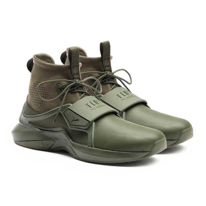 b9b997e8030 Chaussures femme Baskets Puma Select Fenty The Trainer Hi Vert Vert ...