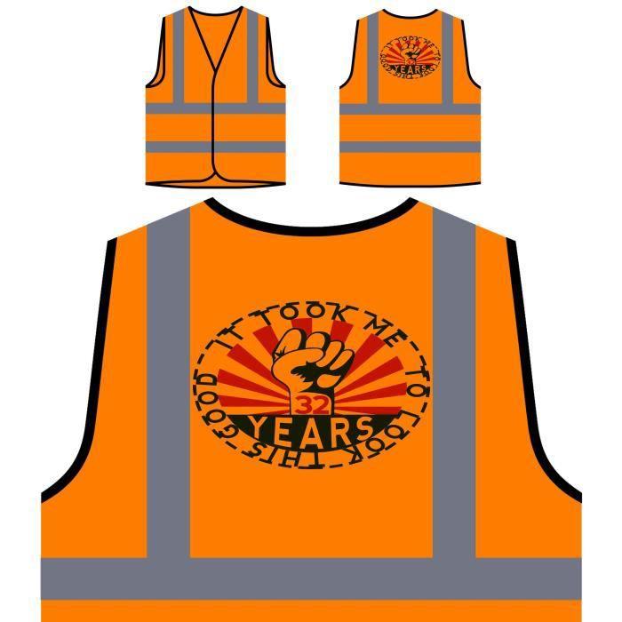 Fer Poing Visibilité Bon Veste Orange De Protection Haute À 32 M'a Pris Protectio Ce Personnalisée il Pour Regarder Ans WqqfTcZa