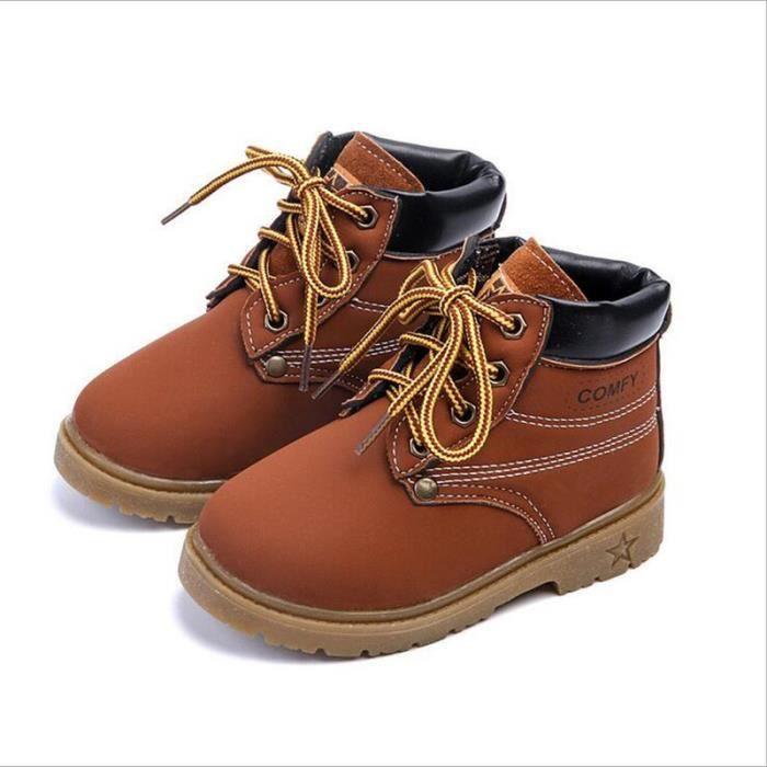 Enfant Chaussures Marque De Luxe Nouvelle Mode 2017 hiver Qualité Supérieure Coton Chaussure Enfant Plus Grande Taille 21-30