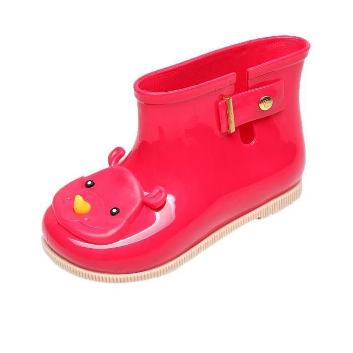 Enfants rouge Chaussures Étanche Gelée Pluie Garçon Cheville Bottes Boucle Bébé XYM80430901RD Filles Enfants rouge Mignon LUVpzqSMG