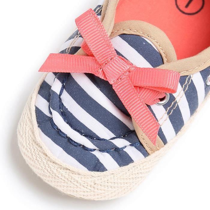 Mocassins Chaussures Anti Bb Slip Confort Doux Tout On Lit bleu Mignon petits Prewalker 418Bw