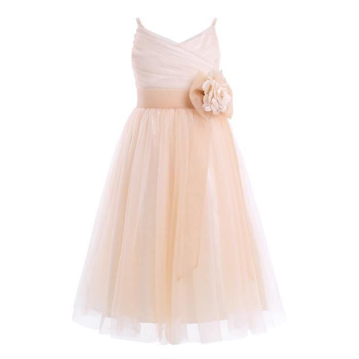 2352a42151b59 Robe de cérémonie -Tulle filles bébé Princesse enfants Mariage - De 2 à 12  ans Fête D anniversaire spectacle