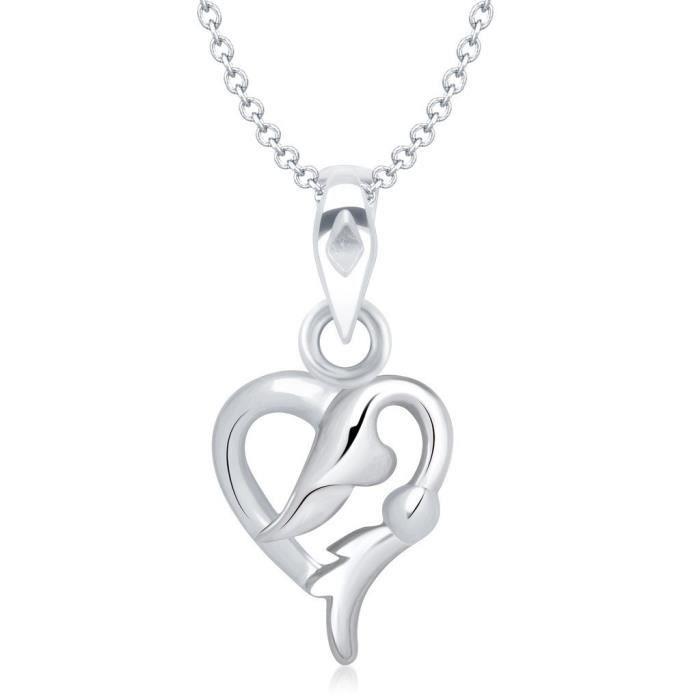 Femmes Vk Bijoux Saint Valentin Coeur Collection de laiton alliage dargent Cz américain Pendentif diamant pour Vkp V5H39