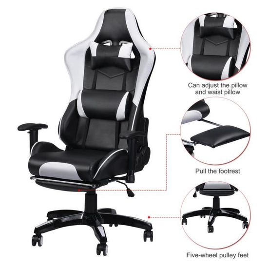 Youtuber Indispensable Gamer Chaise Luxe Pu Cuir Fauteuil