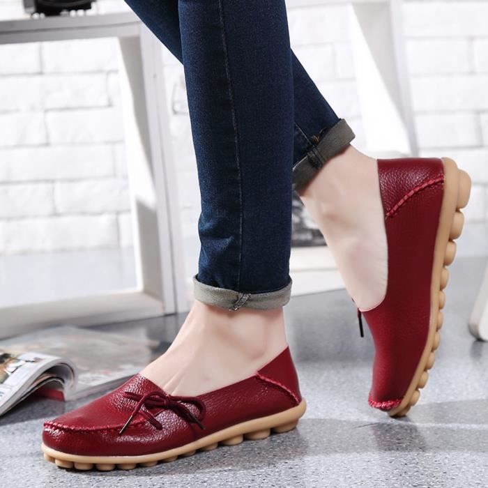 Comfort Walking Office Flat Loafer RPLWY Taille-37
