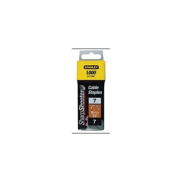 STANLEY 1000 agrafes cavaliers 11mm type 7