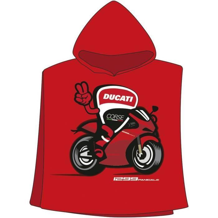 GP MOTORS Serviette Poncho Ducati - Rouge et Noir