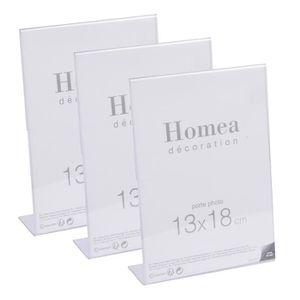CADRE PHOTO Lot de 3 porte-photos à poser Homea 13x18 cm trans