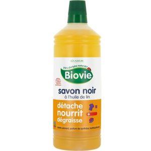 NETTOYAGE MULTI-USAGE BIOVIE Savon noir liquide à l'huile de lin - 1 L