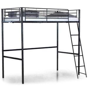 lit mezzanine enfant 90x190 achat vente lit mezzanine enfant 90x190 pas cher cdiscount. Black Bedroom Furniture Sets. Home Design Ideas