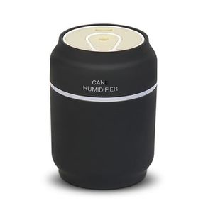 HUMIDIFICATEUR ÉLECT. 3 en 1 LED USB à ultrasons Cans Humidificateur Ess
