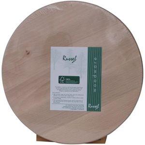 PLANCHE A DÉCOUPER H & L Russel Planche à découper ronde en hêtre 28