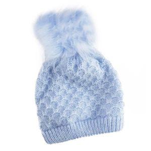 BARTS - Bonnet naissance en fourrure polaire blanc ivoire bébé ... 93e5adf945a