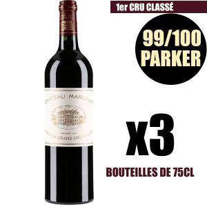 VIN ROUGE X3 Château Margaux 2010 75 cl AOC Margaux Rouge 1e