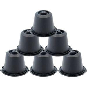 DISTRIBUTEUR CAPSULES 6x Capsules noires Rechargeables Réutilisables pou
