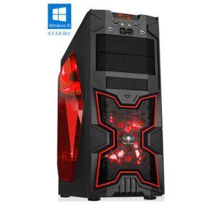 ORDINATEUR TOUT-EN-UN PC Gamer XFighters Rouge - FX 4300 - 8GO RAM - 100