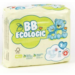 COUCHE BEBE ECOLOGIC - Couches  taille 3 - 30 couches