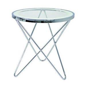 table d appoint verre et metal achat vente pas cher. Black Bedroom Furniture Sets. Home Design Ideas