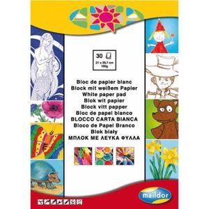 PAPIER CRÉATIF Papier Maildor 160 grs A4 ( bloc de 30 feuilles )-
