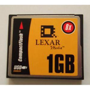 CARTE MÉMOIRE Lexar 1GB 8X USB Compact Flash Card