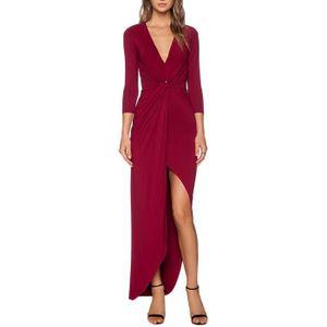312272c7fda4 Robe longue sexy de soiree col v - Achat   Vente pas cher