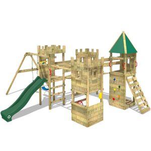 STATION DE JEUX Aire de jeux WICKEY Excalibur Portique en bois Tou