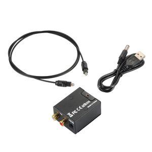 Câble coaxial XCSOURCE Convertisseur Audio Numérique Optique Coa