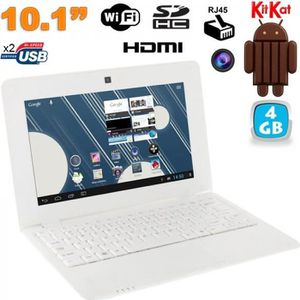 NETBOOK Mini PC Android netbook 10 pouces WiFi 4 Go Blanc