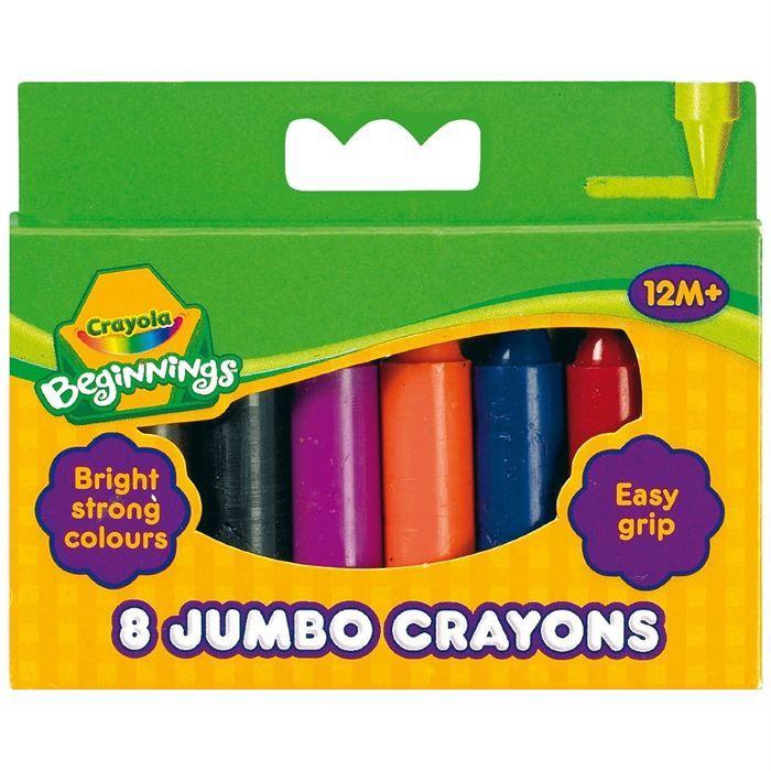 Crayola 8 Maxi Crayons A La Cire Achat Vente Kit De Dessin