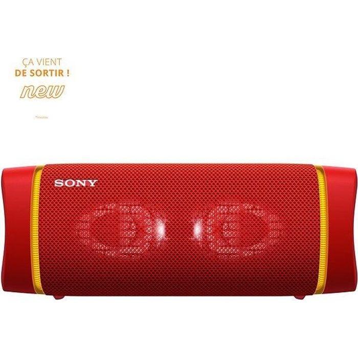 SONY SRSXB33R Enceinte Bluetooth - Autonomie 24h - Splash proof - Rouge