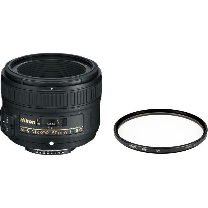 Pack NIKON AF-S NIKKOR 50mm f/1,8 G + Filtre UV