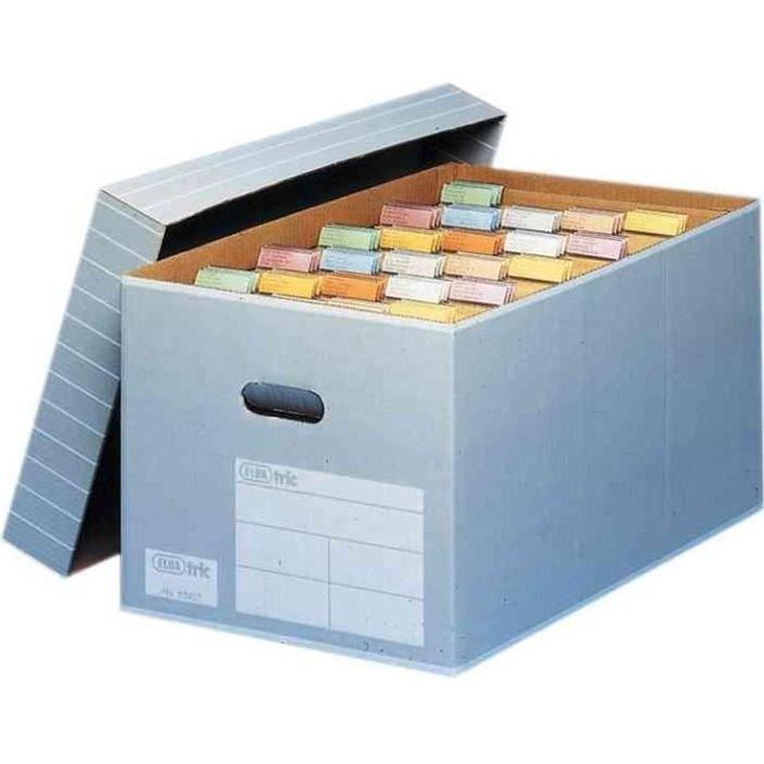 elba lot de 5 bo tes d 39 archive pour 25 dossier suspendu carton gris achat vente bo te. Black Bedroom Furniture Sets. Home Design Ideas