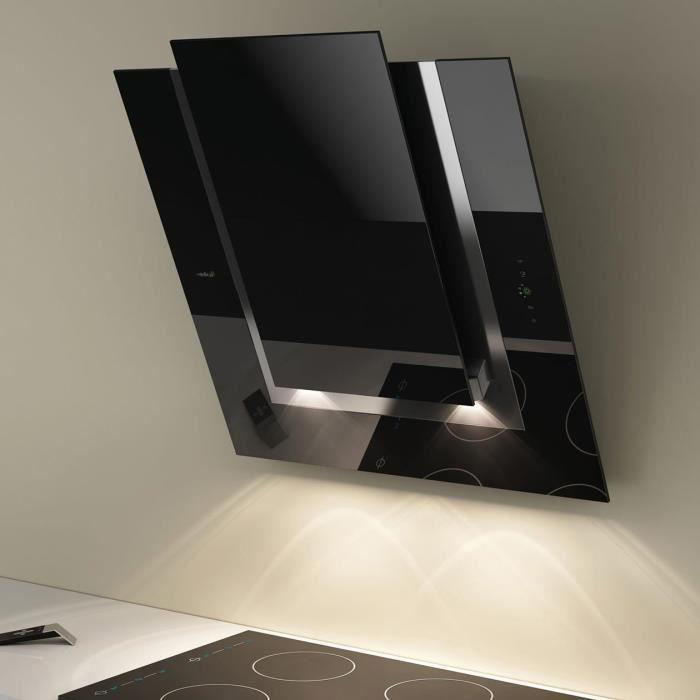 hotte cuisine elica murale noire ico 80 cm achat vente. Black Bedroom Furniture Sets. Home Design Ideas