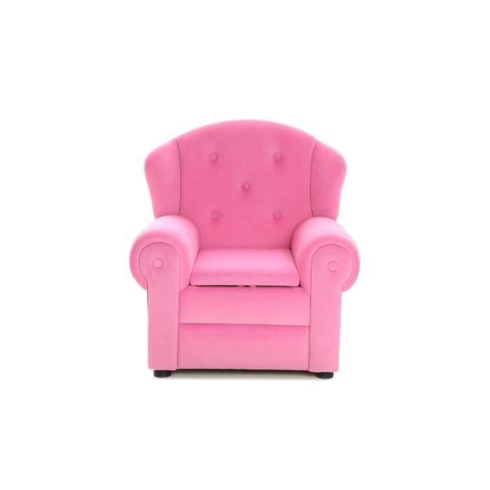 miliboo fauteuil design enfant rose aurore achat vente fauteuil rose cdiscount. Black Bedroom Furniture Sets. Home Design Ideas