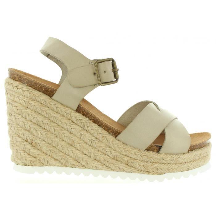 Sandales pour Femme KICKERS 502040-50 YUTI 31 BLANC CASSE