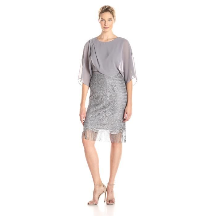 S.l. Fashions Robe de crochet en mousseline de soie pour femme TRRBR