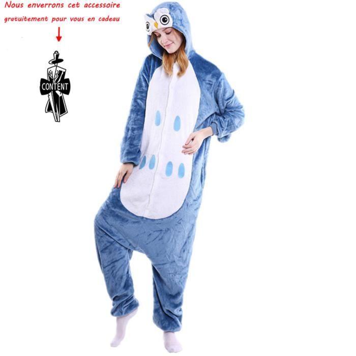 28aa382b1c5c9 NOUVEAUTÉ Combinaison animaux pyjama Femme et Homme grenouillère adulte ado  cartoon pour déguisement chemise de nuit Vêtement