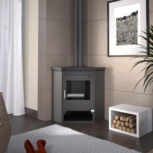 poele a bois d angle achat vente pas cher. Black Bedroom Furniture Sets. Home Design Ideas