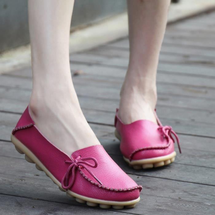 Rose pois XKO476 femmes antidérapant extérieures Sidneyki®La Lace plates chaussures Soft vif lettre des décontracté chaussures Up zqnZO4xw